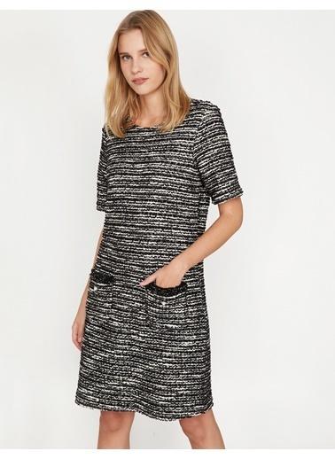 Koton İnci Detaylı Triko Elbise Gri